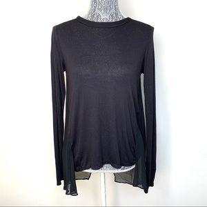 Kenneth Cole Long Sleeve Sheer Panel Tunic XS